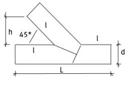 Тройник 45